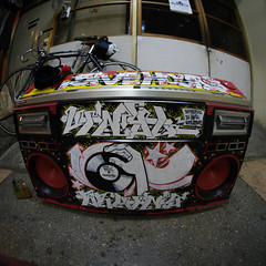 ESOW (TRUE 2 DEATH) Tags: graffiti dj graf hiphop boombox asakusa bboy ghettoblaster wom rdk esow  furaidou 5hoursrecords