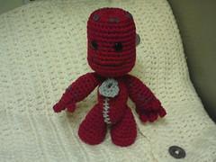 Sackboy (amifan2010) Tags: toy doll crochet amigurumi sackboy