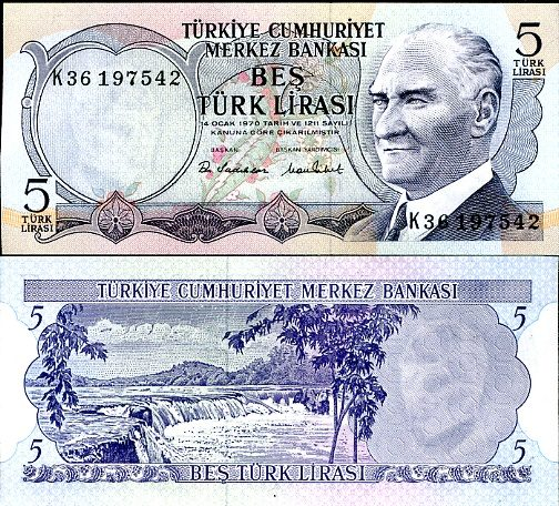 5 Lirasi Turecko  1976, P185