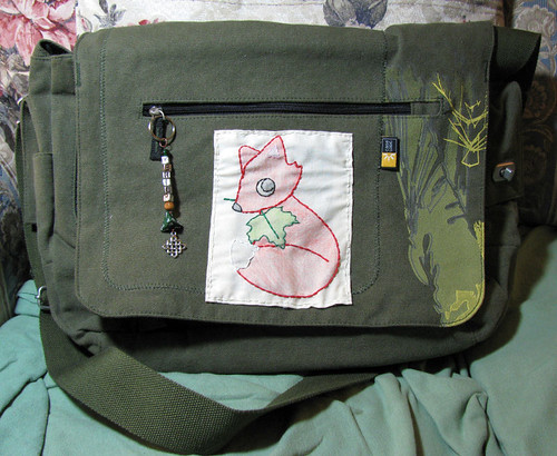 Fox embroidery 3 - laptop bag