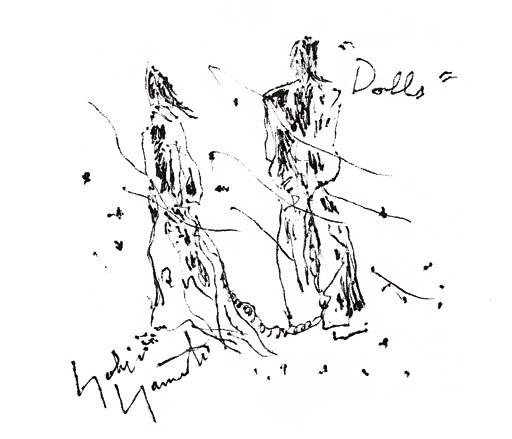 002 'Drawing For Dolls' by Yohji Yamamoto