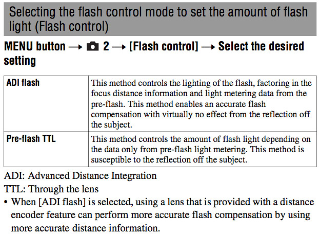 Flash and wireless flash photography instructions in the Sony A580 Manual