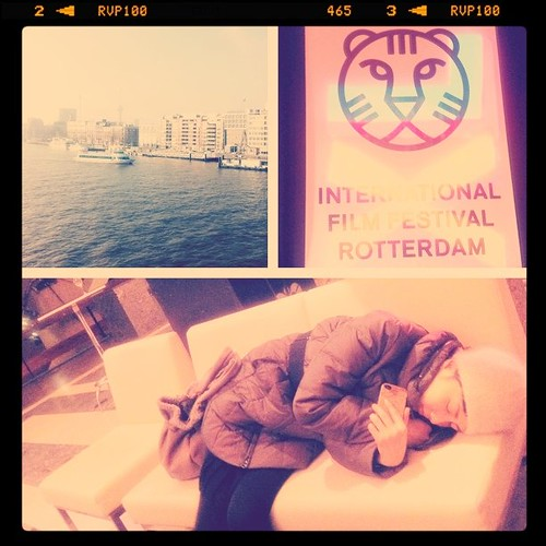 Actress/ producer Kiki Sugino, after a tiring day in the festival #iffr @waentertain