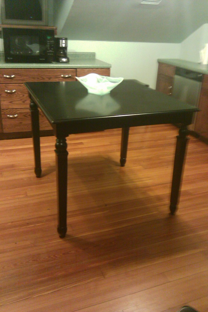 World Market Counter Height Table with 4 Pier One Stools View 3