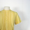 1960s dijon pintucks and eyelet blouse, by The Pilot (Small Earth Vintage) Tags: yellow shirt vintage clothing women 60s buttons blouse 1960s eyelet thepilot pintucks smallearthvintage