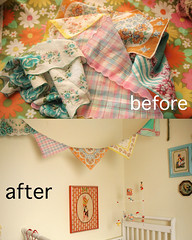 Scarf Bunting (Skunkboy Creatures.) Tags: diy nursery decor homedecor bunting vintagescarf