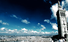 Marseille, my town! (cedmars) Tags: city bridge blue cloud france canon de photography la town is photo marseille big europe flickr photographer photographie good basilica famous mother grand powershot bleu elite cedric tradition notre dame nuage bonne tone garde ville bilder ton cyanotype basilique cdric the mre massilia sx20 vaste nwm teinte connu cedmars fettouche