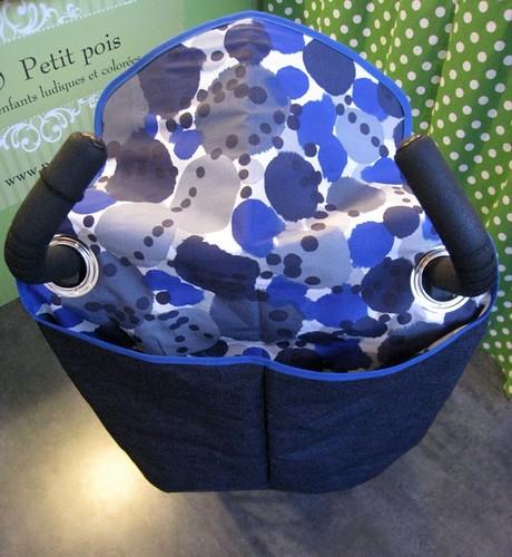 Koasac toile jeans imprimé aquarelle bleu