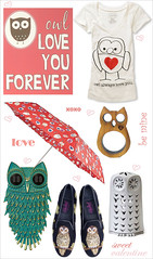 Valentine's day gift guide (MyOwlBarn) Tags: art scarf umbrella print boots wallet watch brooch jewelry ring owl tee candleholder valentinesday giftguide