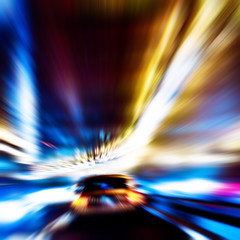 TunnelBlur (wesbs) Tags: nyc newyorkcity urban ny newyork motion blur color car lights nikon driving tunnel headlights explore taillights d90 explored