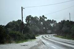 RN198 : couche de grêle sur la route