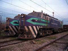 Dos grandes (MΣTRØMURCIΔ) Tags: chile del train tren sofia rail trains loren breda pacifico gai ferrocarril elettrica e32 fepasa locomotiva mercancias 3223 3234