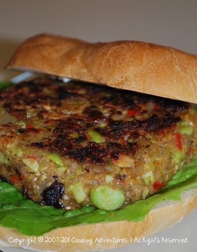 Edamame and Mushroom Burgers with Ginger Lime Mayo_By Poonam Phatak