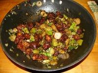General Tso's Chicken in wok