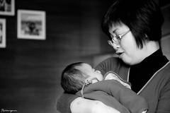 36/365 Newborn baby (StephanieYuen) Tags: baby white black holding memory newborn