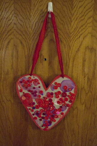 our hanging heart decoration