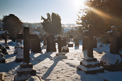 (ĠΞM) Tags: snow film graveyard 35mm yashica t4