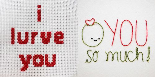 Embroidered Love: Two Ways