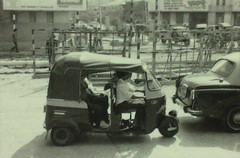 Indian Tuk Tuk 1987 (Dawn in Phuket, Thailand) Tags: bw india 1987 calcutta