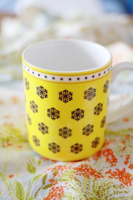 Franc Franc Snowflake Yellow Mug
