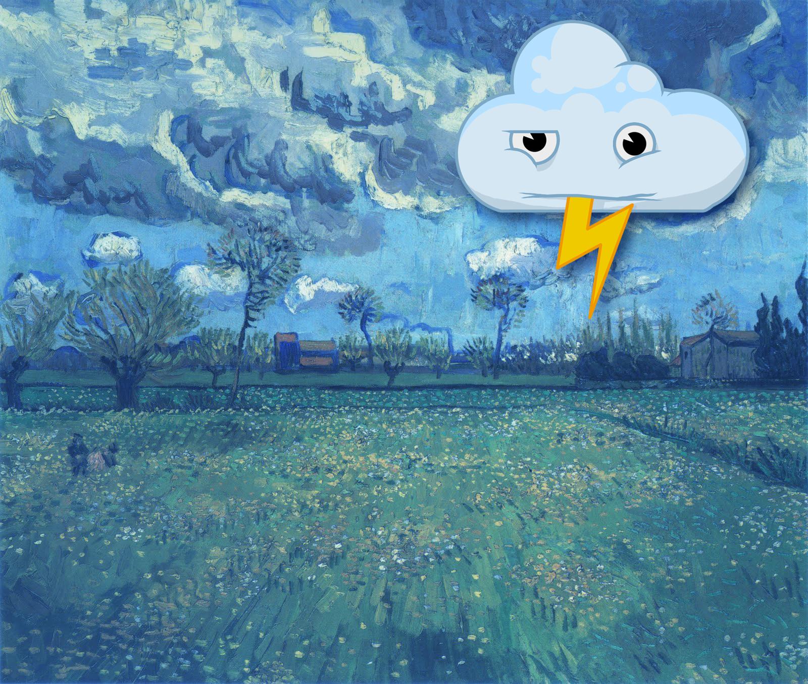 Wayne Thayer/Landscape Under a Stormy Sky