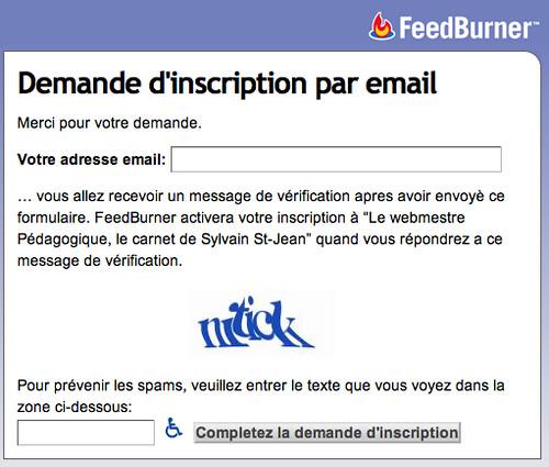 Inscrivez votre adresse de courriel