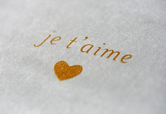 Valentine's Inspiration: je t'aime (Burrs & Berries) Tags: glitter print cards gold design silkscreen valentines iloveyou etsy stationery valentinesday jetaime handsilkscreened goldink humunukushoppe jetaimecards