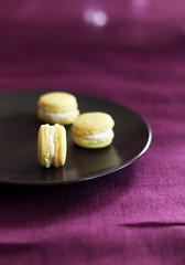 Lemon macarons II (rekre89) Tags: food 50mm lemon bokeh violet plate f22 macarons vellow canoneos50d
