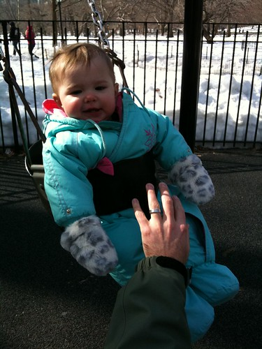 Nora Swings in Central Park