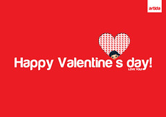 Artida - Postcard Valentine's day (Ajda Gregorčič) Tags: red cute love day heart postcard valentine card kawaii valentines greeting inlove artida passioon