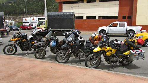 The bikes at the Ecuadoran Border