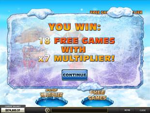free Penguin Vacation slot bonus game win