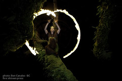 Maples 'Afire (Ben Canales) Tags: trees tree nature female night dark portland outdoors fire moss maple model dancing flames performance scene location burning flame spinning firedancing pdx gorge fires maples columbiagorge mossy flaming spinner columbiarivergorge firedancer spinningfire mossytrees bencanales flamebuoyant shireenpress