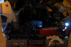 Game Over, Man! (Catsy [CC]) Tags: mod lego contest colonial rifle scene aliens marines custom pulse modification diorama incinerator moc xenomorph laststand m240 smartgun catsy m56 brickarms m41a lifelites lego:theme=space flickr:user=catsy lego:scale=minifig lego:theme=aliens