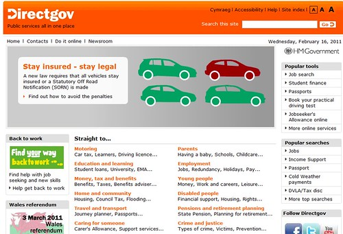 DirectGov Home Page