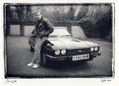 Liam and capri, Wales 2010 (Dan_wood) Tags: ford wales capri cymru style oldschool 80s welsh leicam6 documentaryphotography fordcapri darkroomprint danwoodphotography