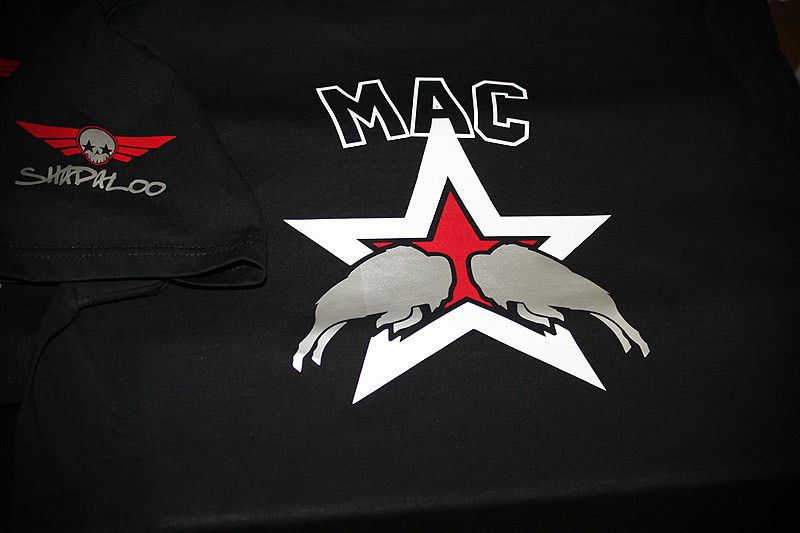 Shadaloo custom made sponsor T-shirts