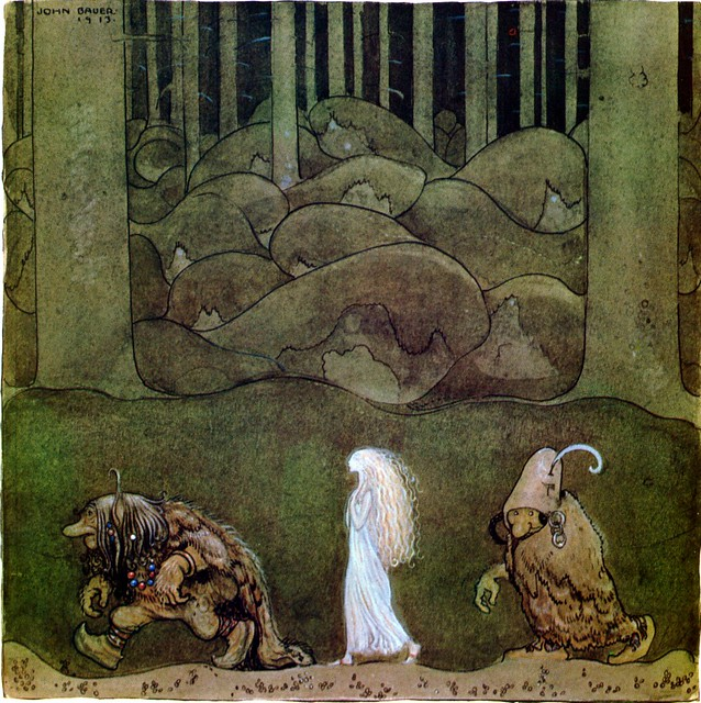 "John Bauer ""One summer's evening they went with Bianca Maria deep into the forest"" 1913"