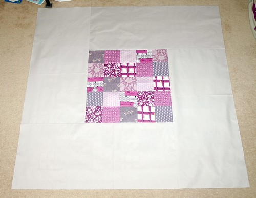 Purple baby quilt back