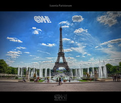 Lutetia Parisiorum (HDR) (farbspiel) Tags: travel paris france history tourism sunshine clouds photoshop logo geotagged photography nikon frankreich