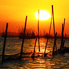 baklad in laguna de bay (Bosso Baron) Tags: sunset orange seascape water bay skies philippines bamboo silhoutte fishpen lagunabay joelyonzon baklad
