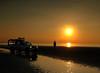 Beach patrol (Mr Grimesdale) Tags: sunset seascape liverpool gormley crosby antonygormley rnli merseyside anotherplace rivermersey beachpatrol stevewallace mrgrimesdale