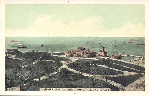 Aquarium & Battery Park - NYC (Postcard)