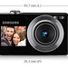 Samsung-Camera-Digital-PL100-124-Megapixels-Duplo-LCD-LCD-Frontal-4-GB-Capa-dimensoes do protuto