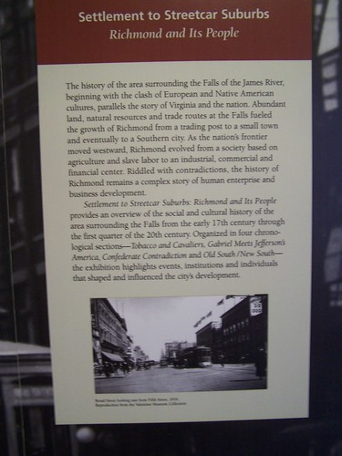 Settlement to Streetcar Suburbs, Valentine Richmond History Center