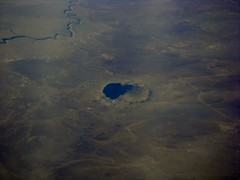 Flying over Meteor Crater