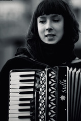 Accordion Girl (Hadi Al-Sinan Photography) Tags: trip 2 girl canon river bristol photography is photo shot near mark leeds accordion best ii 5d usm society f28 hadi 70200mm febrauary 2011 alsinan alssinan