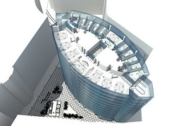 Proposed Typical Office Plan Axonometric