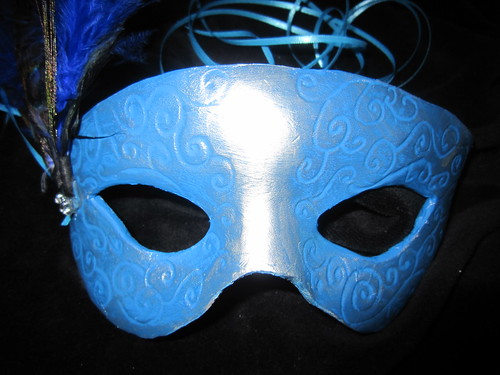 Leather Peacock Mask Front