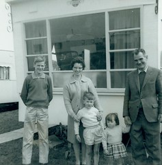 Image titled McCreath family at caravan Maidens 1963